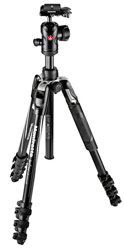Manfrotto Advanced Aluminum Travel Tripod Lever + balhoofd Main Image