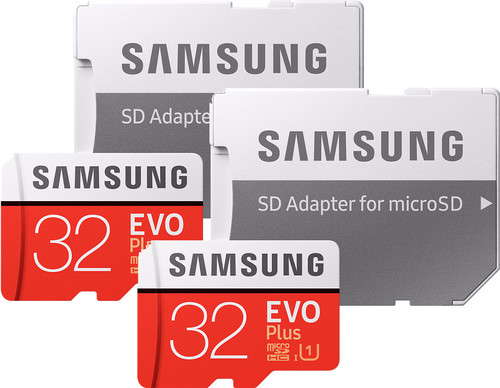 Samsung microSDHC EVO+ 32 GB 95MB/S CL 10 + SD Adapter Duo Pack Main Image