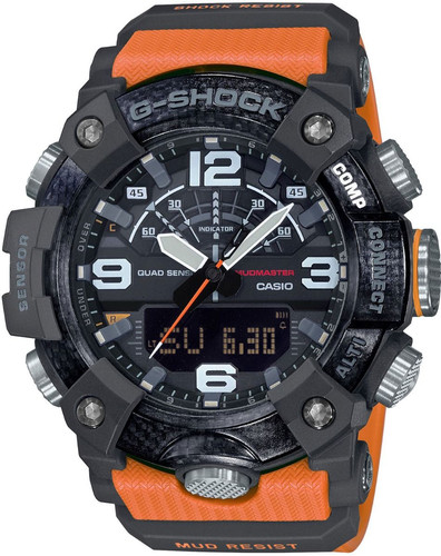 Casio G-Shock Mudmaster GG-B100-1A9ER Black/Orange Main Image