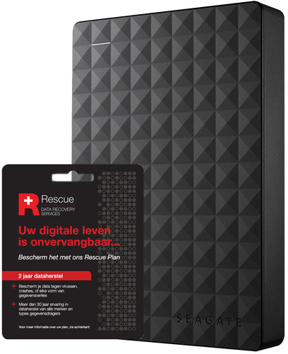Seagate Expansion portable 5TB + Seagate Rescue Card 2 years Main Image
