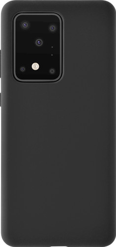 Azuri Siliconen Samsung Galaxy S20 Plus Back Cover Zwart Main Image