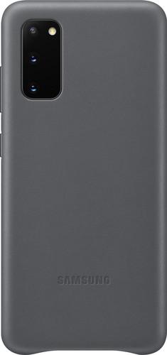 Samsung Galaxy S20 Back Cover Leer Grijs Main Image