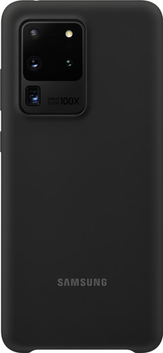 Samsung Galaxy S20 Ultra Silicone Back Cover Zwart Main Image