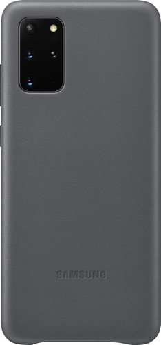 Samsung Galaxy S20 Plus Back Cover Leather Gray Main Image