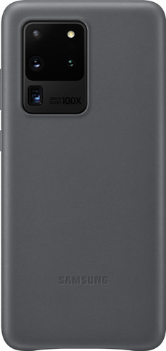 Samsung Galaxy S20 Ultra Back Cover Leer Grijs Main Image