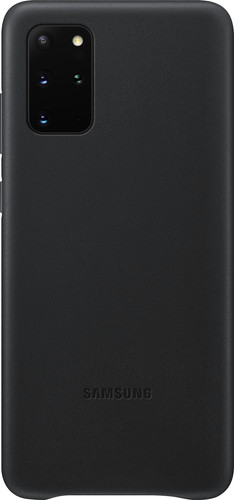 Samsung Galaxy S20 Plus Back Cover Leather Black Main Image