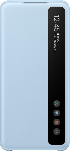 Samsung Galaxy S20 Clear View Cover Blauw Main Image