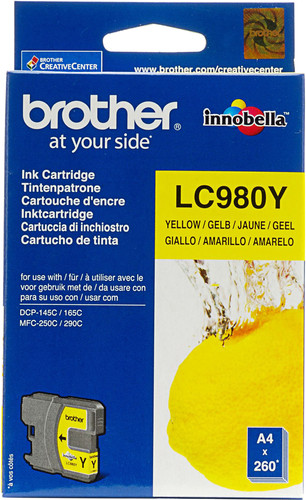 Brother LC-980 Cartridge Yellow Main Image