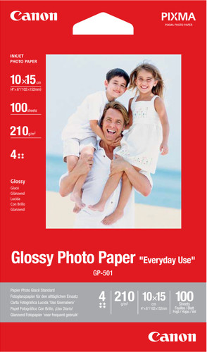 Canon GP-501 Glossy Photo Paper 100 Sheets 10x15cm Main Image