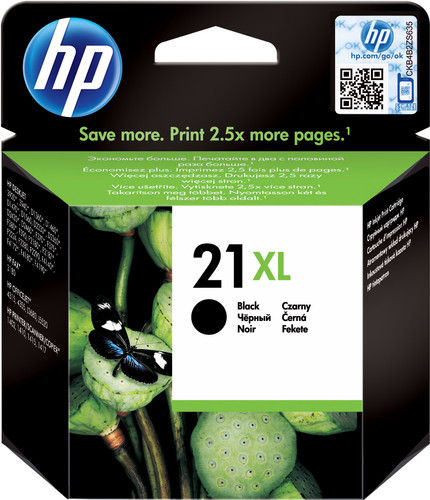 HP 21XL Cartridge Black Main Image