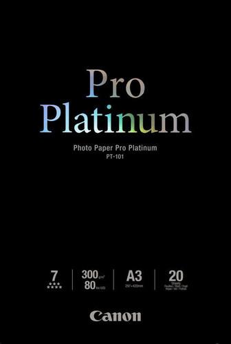 Canon PT-101 Pro Platinum Fotopapier 20 Vellen A3 Main Image