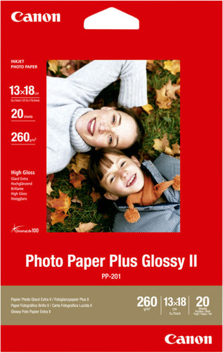 Canon PP-201 Glossy Plus Photo Paper 20 Sheets 13 x 18 cm Main Image