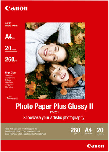 Canon PP-201 Glossy Plus Photo Paper 20 Sheets A4 Main Image