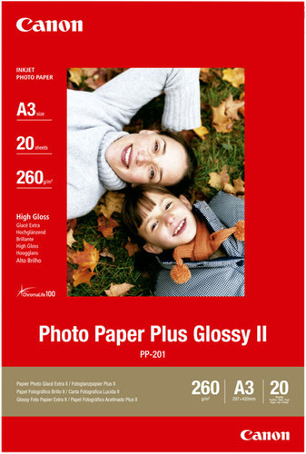 Canon PP-201 Glossy Plus Photo Paper 20 Sheets A3 Main Image
