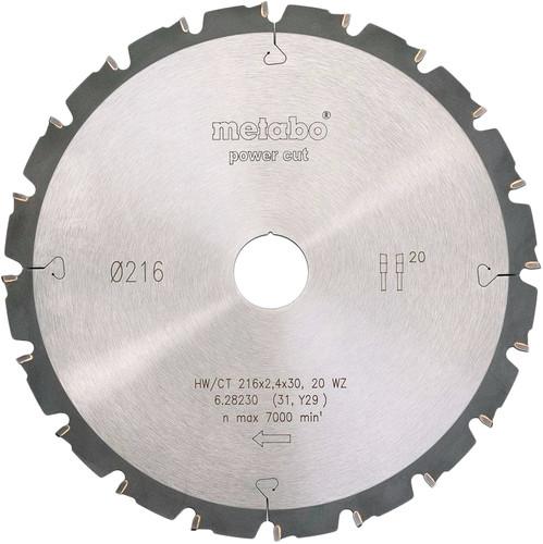 Metabo Zaagblad Power Cut 216mm 20T Main Image