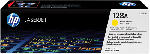 HP 128A Toner Cartridge Yellow Main Image
