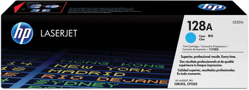 HP 128A Toner Cartridge Cyan Main Image