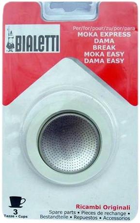 Bialetti Filterplaatje + Rubber Ring 3 kopjes Main Image