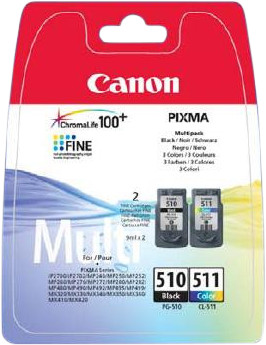 Canon PG-510/CL-511 Cartridges Combo Pack Main Image
