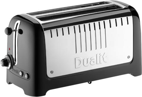 Dualit Lite Gloss 2 Slot Long Zwart Main Image