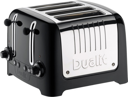 Dualit Lite Gloss 4-slot Zwart Main Image