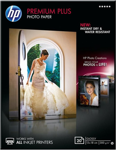 HP Premium Plus Glossy Fotopapier 20 vel (13 x 18) Main Image