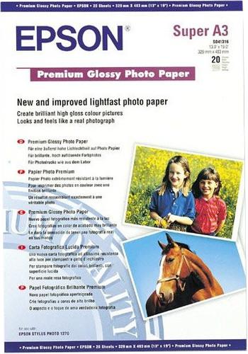 Epson Premium Glossy Photo Paper 20 sheets (A3 +) Main Image
