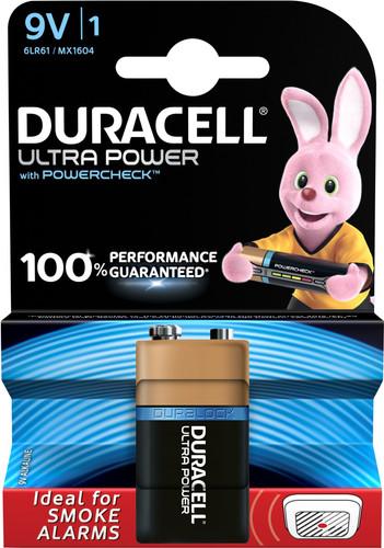 Duracell Ultra Power alkaline 9V-batterij 1 stuk Main Image