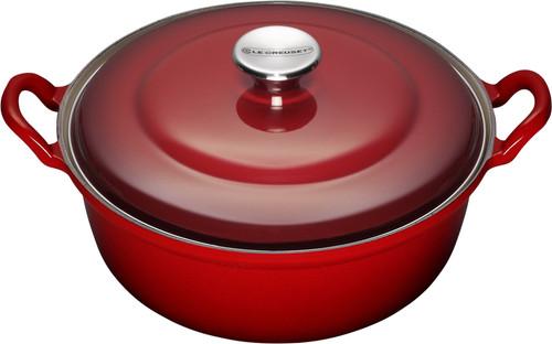 Le Creuset Faitout Dutch Oven 24cm Cherry Red Main Image