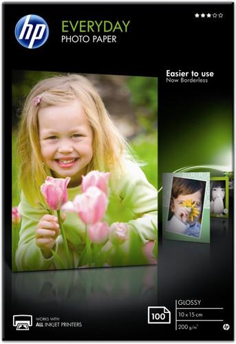 HP Everyday Glossy Photo Paper 100 Sheets (10x15) Main Image