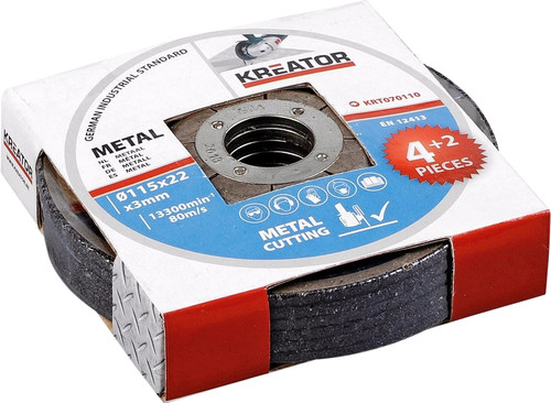 Kreator Metal cutting disc 115 mm 6 pieces Main Image