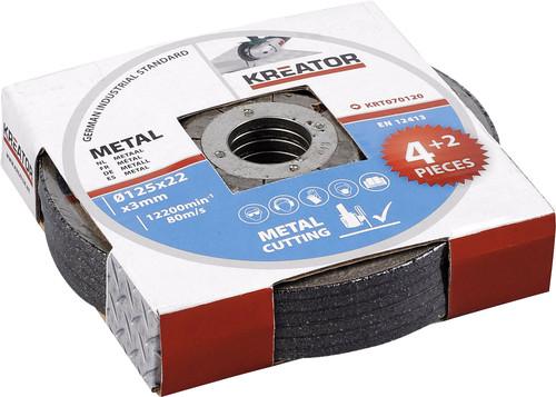 Kreator Metal grinding wheel 125 mm 6 pieces Main Image