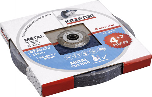 Kreator Grinding wheel Metal 230 mm 6 pieces Main Image