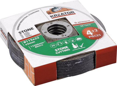 Kreator Grinding wheel stone 115 mm 6 pieces Main Image