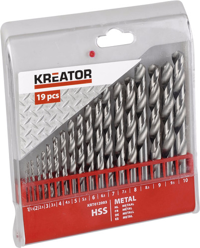 Kreator Metal core set HSS 19-piece 1-10mm Main Image