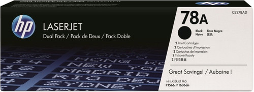 HP 78A Toner Cartridges Black Duo Pack Main Image