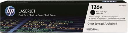 HP 126A Toners Zwart Duo Pack Main Image