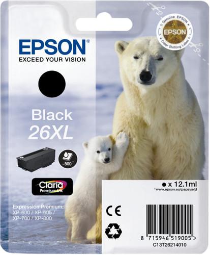 Epson 26XL Cartridge Zwart Main Image