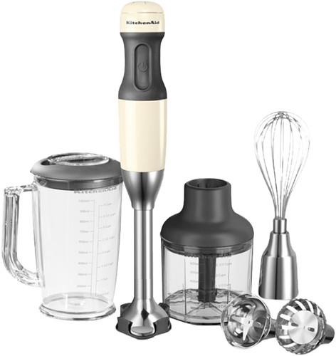 KitchenAid Immersion Blender Set Almond White Main Image