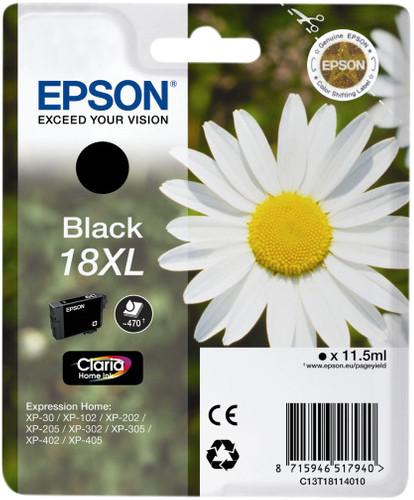 Epson 18XL Cartridge Black Main Image