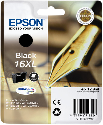 Epson 16XL Cartridge Zwart Main Image