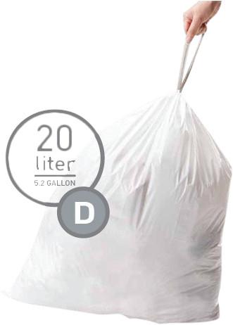 Simplehuman Afvalzakken Code D - 20 Liter (20 stuks) Main Image