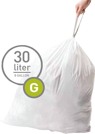 Simplehuman Afvalzakken Code G - 30 Liter (20 stuks) Main Image
