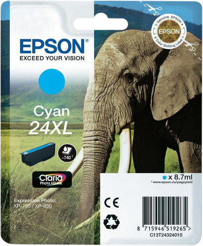 Epson 24XL Cartridge Cyan Main Image