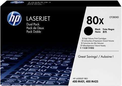 HP 80X Toner Zwart Duo Pack (Hoge Capaciteit) Main Image