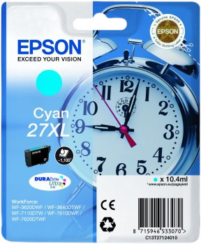Epson 27XL Cartridge Cyan Main Image