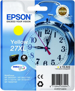 Epson 27XL Cartridge Yellow Main Image