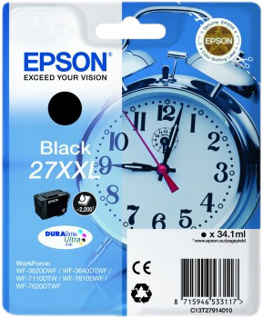 Epson 27XXL Cartridge Zwart Main Image