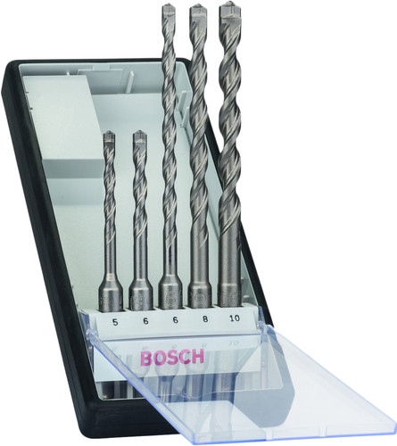 Bosch 5-piece SDS-Plus Robust Line Drill Bit Set Concrete Main Image