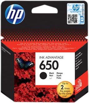 HP 650 Cartridge Black Main Image